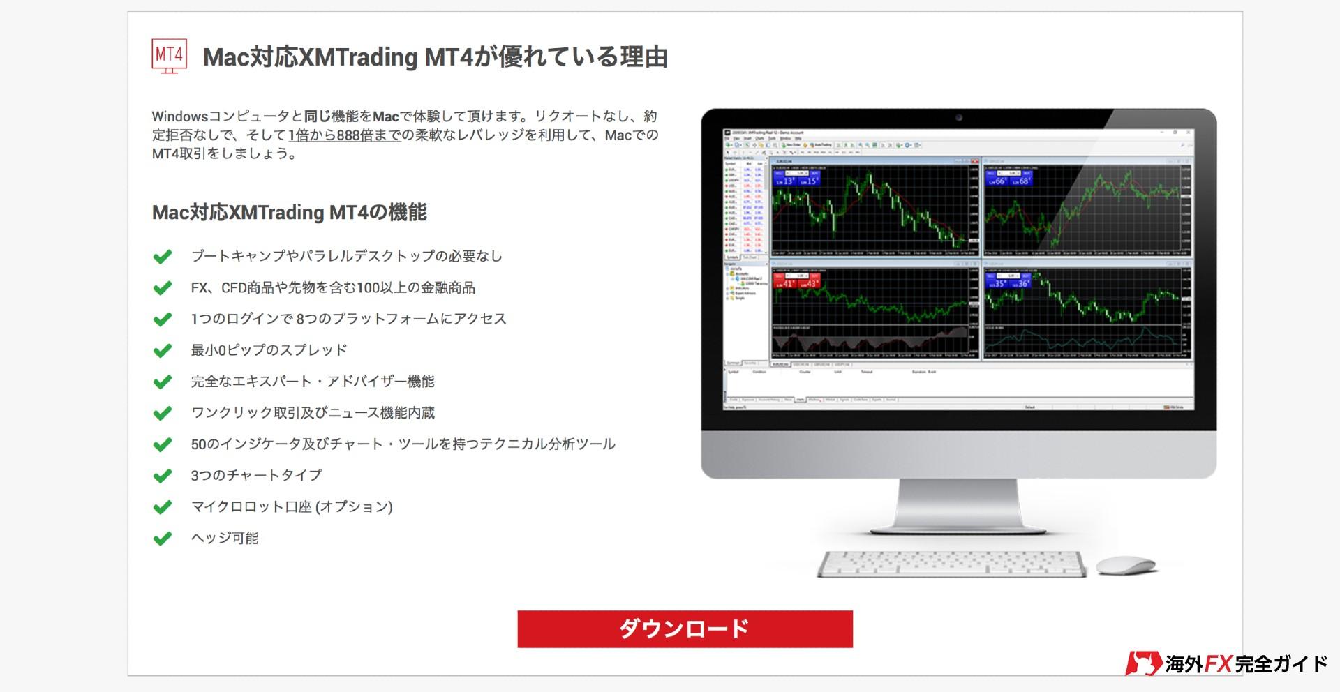 XMメタトレーダーMT4ダウンロード